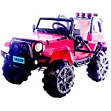 Toy House Trooper Off Roader Jeep Rechargeable Battery Operated Ride-On With Remote For Kids, Red
