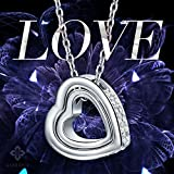 Kami Idea Princess Necklace for Women Love You Forever Engravd Heart Pendant with Crystals from Swarovski Jewellery Gifts for Christmas Birthday Wedding Anniversary Wife Girfriend Mother Daughter Her Bild 5