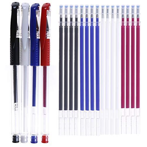 4 Stück Heat-Radier-Stifte mit 20 hitzeradierbaren Stoffmarkierungen zum Nähen, Quilten und Schneidern (4 Farben)