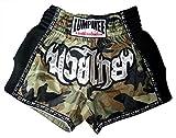 Lumpinee Retro de Camuflaje del ejército de Camuflaje Hombres Pantalones Cortos para Muay Thai y Boxeo, Lucha - Verde -