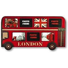 ZEP Magic Bus - Portafotos múltiple London, madera, color rojo