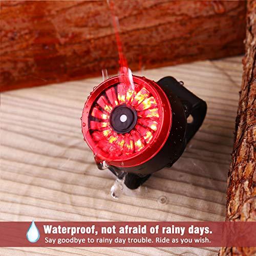 ACAMPTAR Luces de Freno de Bicicleta LED Luces de Cola Luz de Advertencia de Seguridad Adecuado para V Disco de Freno