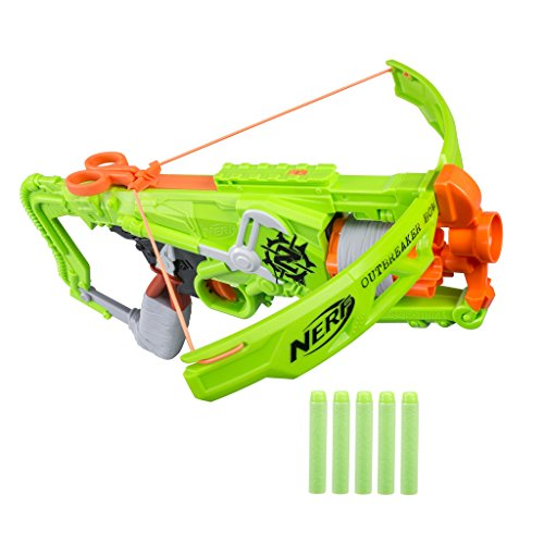 Nerf (B9093EU40) Zombie Strike Outbreaker Bow Blaster, Multi Color Best Price and Cheapest