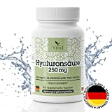 VITA1 Hyaluronsäure 250mg • 60 Kapseln (2 Monate Vorrat) • gegen Falten und Entzündungen • Hergestellt in Deutschland