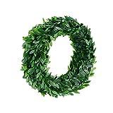 Grün Blätter Efeuranken Künstliche Blumenkranz Tür für Hochzeit Party Feier DIY Stirnbänder