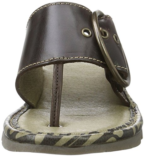 Fly London Ladies Trim Separatore Punta P500453 Marrone (dk Brown 021)