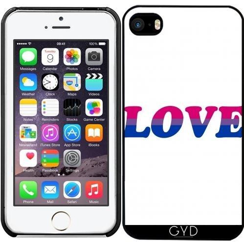 Leder Flip Case Tasche Hülle für Apple iPhone 4/4S - Bisexuell Liebe by Cadellin Starre Kunststoff