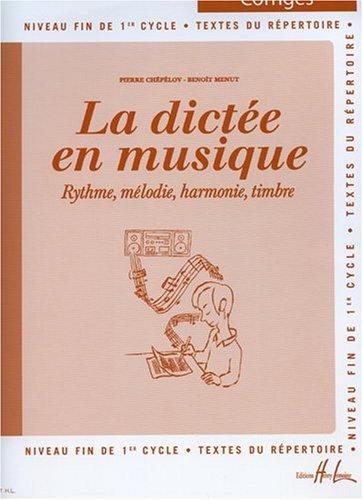 La dictee en musique vol.3 - corrige