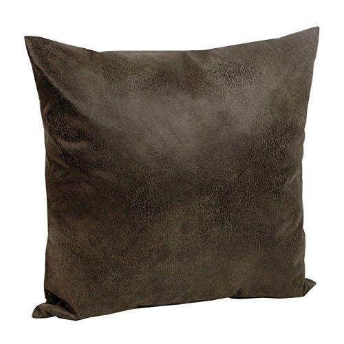 Tabago Kissenhülle Lederoptik ca. 40x40 cm täuschend echt & anschmiegsam Farbe 600 Braun (Leder-couch-kissen)