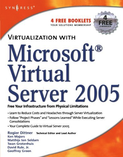 Virtualization with Microsoft Virtual Server 2005 by Rogier Dittner (2006-12-09) par Rogier Dittner;David Rule;Ken Majors;Matthijs Ten Seldam;Twan Grotenhuis