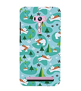 printtech Cool Bear Design Abstract Back Case Cover for Asus Zenfone 6::Asus Zenfone 6 A600CG