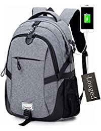 Anti-theft Laptop Backpack, Loaged Business Bags With USB Charging Port Water Resistant School Bookbag For College...
