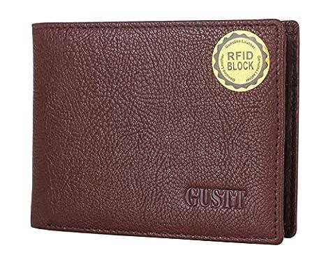 GUSTT Royal Blocage RFID sécurisé Portefeuilles en cuir véritable Pour