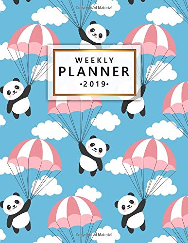 Weekly Planner 2019: Cute Happy Flying Panda Weekly and Monthly Planner Yearly Schedule Organizer Journal Agenda Notebook (January 2019 - December 2019) por Simple Planners