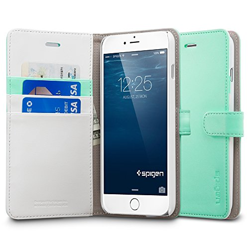 Spigen Case Wallet S Black für iPhone 6 Plus / 6S Plus (PET) SGP10918 WS Mint Grün