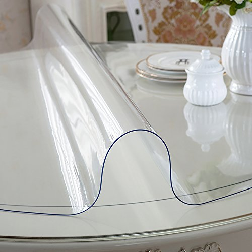 Protector para mesa MAGILONA, impermeable, de PVC de 1,5mm de grosor, con protección contra el calor, forma redonda