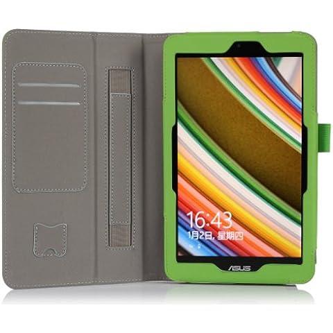 [Bamboo] Carcasa Funda Smart Case Cover Cubierta de PU Cuero con el sostenedor / soporte de la carpeta Para ASUS VivoTab Note 8 (M80TA) Windows 8.1