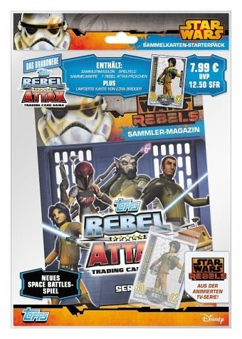 Topps TO01029-DE - Sammelkartenspiel - Star Wars Rebel Attax Starter Set, Deutsch