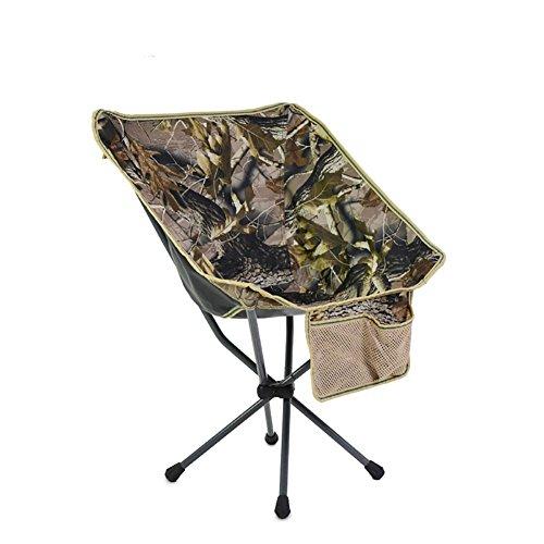 ZCJB Chaise Pliante Portative Extérieure Mini Chaise De Lune De Pêche Arrière Croquis Chaise De Camping De Plage Paresseuse (Couleur : Camouflage)