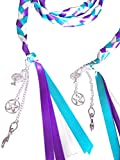 Wedding Hand Fasting / Binding Cord Turquoise Purple and Ivory Ribbon and With Charms by Dunns-jewels