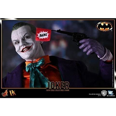 Joker Batman figura de acción de la película 1989 de colección 1/6 escala pintado tallado a mano