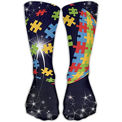 Autism Puzzle Ball Pattern Casual Socks Crew Socks Ankle Socks Athletic Sock One Size Fits All Adult For Travel Sports