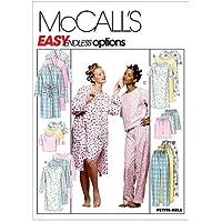 McCalls M6659 Patrones de costura para confeccionar pijamas de mujer varios modelos, tallas 34-50, instrucciones en ingl/és y alem/án