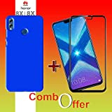 Goelectro Honor 8X Cases Accessories (Combo Offer) 360 Degree Protection 4 Cut Hard Back Cover New For Honor 8X + Edge To Edge Honor 8X Tempered Gorilla Glass Combo Screen Guard (Blue)
