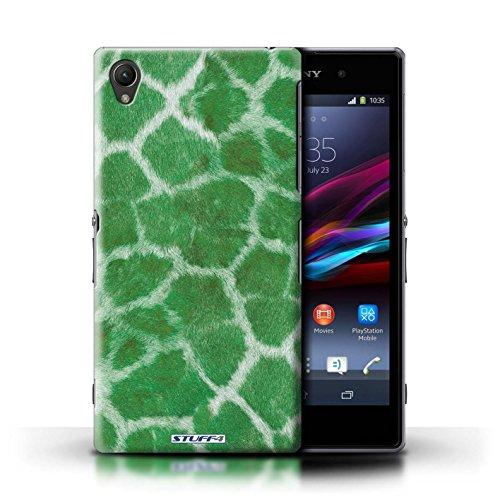 Kobalt® Imprimé Etui / Coque pour Sony Xperia Z1 / Rose conception / Série Girafe animale Peau/Motif Vert