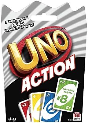 Mattel Jeux ckb12–Uno Action, jeu de cartes