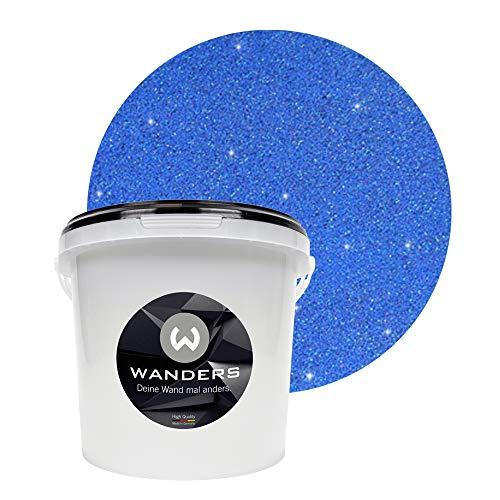 Wanders24 Glimmer-Optik (3 Liter, Gold-Blau) Glitzer-Wandfarbe in 16 Farbtönen erhältlich, individuelle Gestaltung, Effektfarbe Made in Germany