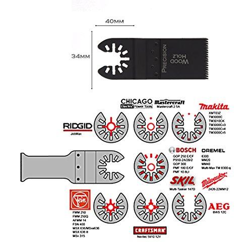 Multitool Werkzeug Sägeblatt für Holz 34mm Multimaster Fein Bosch Makita 3-er SET