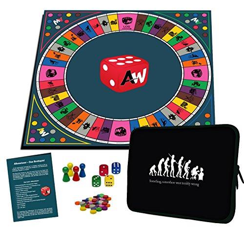 Alleswisser – Das Brettspiel, interaktives Quiz-, Wissens- und Familienspiel mit App für iOS und Android mit Tasche im Mensch & Geschichte-Layout