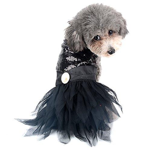 Ranphy 2018New Sequins Kleid Rock Welpen Kleidung für kleine Hunde/Katzen, Blumen und Blingbling Tutu (Größe xs-xl für kleine Haustiere.