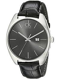 Calvin Klein K2F21107 - Reloj analógico de caballero de cuarzo con correa de piel negra