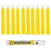 Cyalume Barras de luz amarilla SnapLight Glow Sticks 15cm, 6 inch Lightstick super brillante con duración de 12 horas