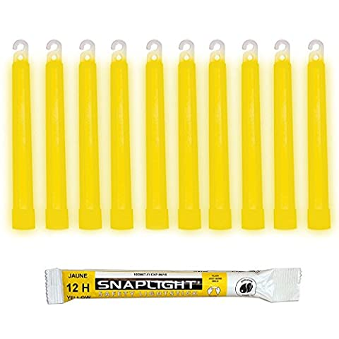Cyalume SnapLight Yellow Glow Sticks – 6 Inch Industrial Grade,