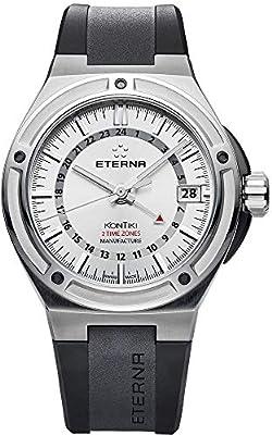 Eterna Royal KonTiki Watch, Eterna 3945-A, White, Rubber strap, 7740.40.11.1289