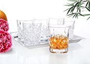 Cristal Collection Naples Short Ball Tumblers, Elegant Classic Design, Perfect Glasses for Water, Juice, Beer,