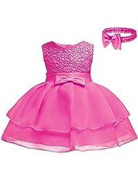 51c67e7e9 KINDOYO Vestido De Las Niñas - Niñas Recién Nacidas Fiesta De La Dama De  Honor Cumpleaños Bowknot De La Boda del Tul Tutu Vestidos…