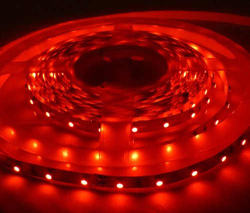 24v LED STRIP LIGHTS in RED – 1 METRE LED STRIPS / 60 LED's ** 24 VOLT LED TAPE / RIBBON IDEAL FOR MOOD LIGHTING, BOATS, COACHES, MOTORHOMES, ETC ** SUPER BRIGHT 3528 SMD LED's!!