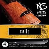 D'Addario Bowed Jeu de cordes pour violoncelle D'Addario NS Electric, manche 4/4, tension Medium