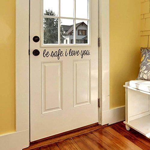 Beverly465 Tür Aufkleber Modernen Farmhouse Stil Tür Vorne für Aufkleber Tür Vinyl Aufkleber 33,8cm W x 12,7cm H 2 (Dodge-ladegerät-aufkleber)