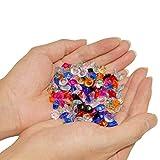 KAKOO 1000 Stück Deko Diamanten Dekosteine 10mm Funkelnde Kristall Glitzersteine Streudeko Hochzeit Tisch Dekoration Vasen Füller Blumen DIY Basteln (bunt) - 4