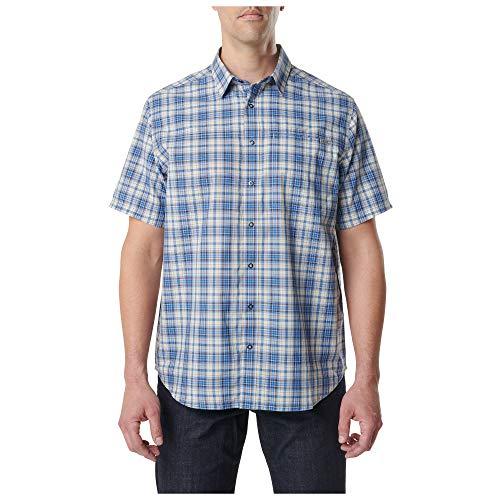 5.11 Tactical Herren Hunter Plaid Kurzarmhemd, Herren, 71374, Baltic B Plaid, xs - 5.11 Holster Shirt