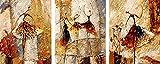 Malen nach Zahlen für Erwachsene XXL mit aufgespannter Staffelei 3 Bilder 40cm x 50 cm x3 P066