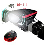 Best Bicycle Lights - USB Rechargeable LED Bike Light Set, Runhome Super Review