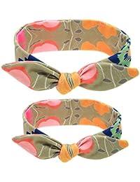 SAMGU 2 Pièces Mère et Bébé Bandeau de Cheveux Lapin Oreille Nœud Papillon Bowknot Mignon