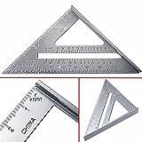 hangboughteu 17,8cm Speed quadratisch Layout Werkzeug Aluminium Legierung Winkelmesser Miter Einrahmung Dacheindeckung Meßlineal