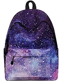 HLLZL Patrón de Galaxia geométrica Casual Mochila Escolar Mochila de Mochila Mochila para Mujer y niña